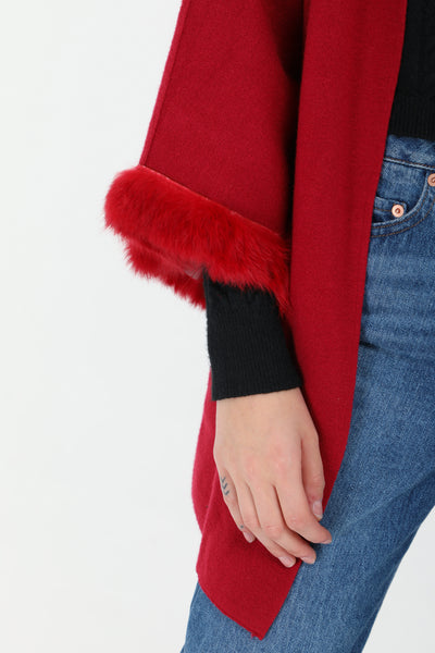 Angela Faux Fur Sleeve Coatigan