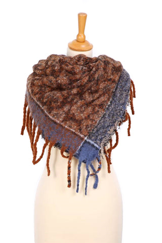 Taupe Animal Print Square Scarf