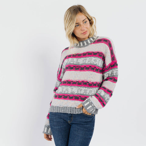 Avril Pink and Grey Jumper