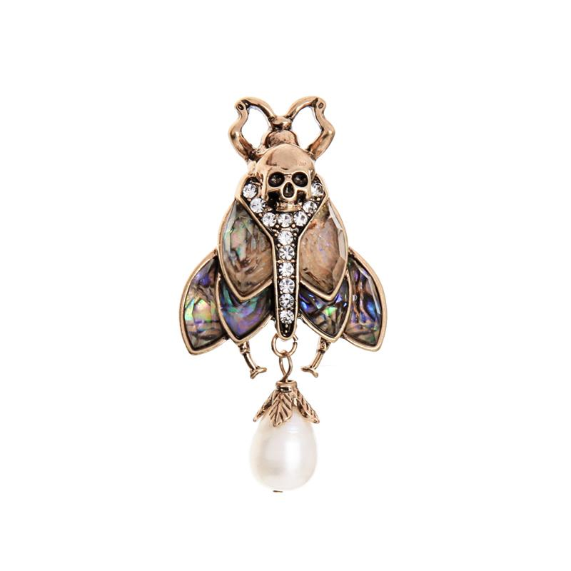 Terri Multi Tone Beetle Pin Brooch