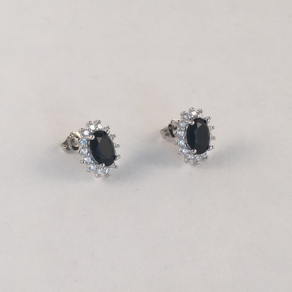 Black Diamante Stud Earring