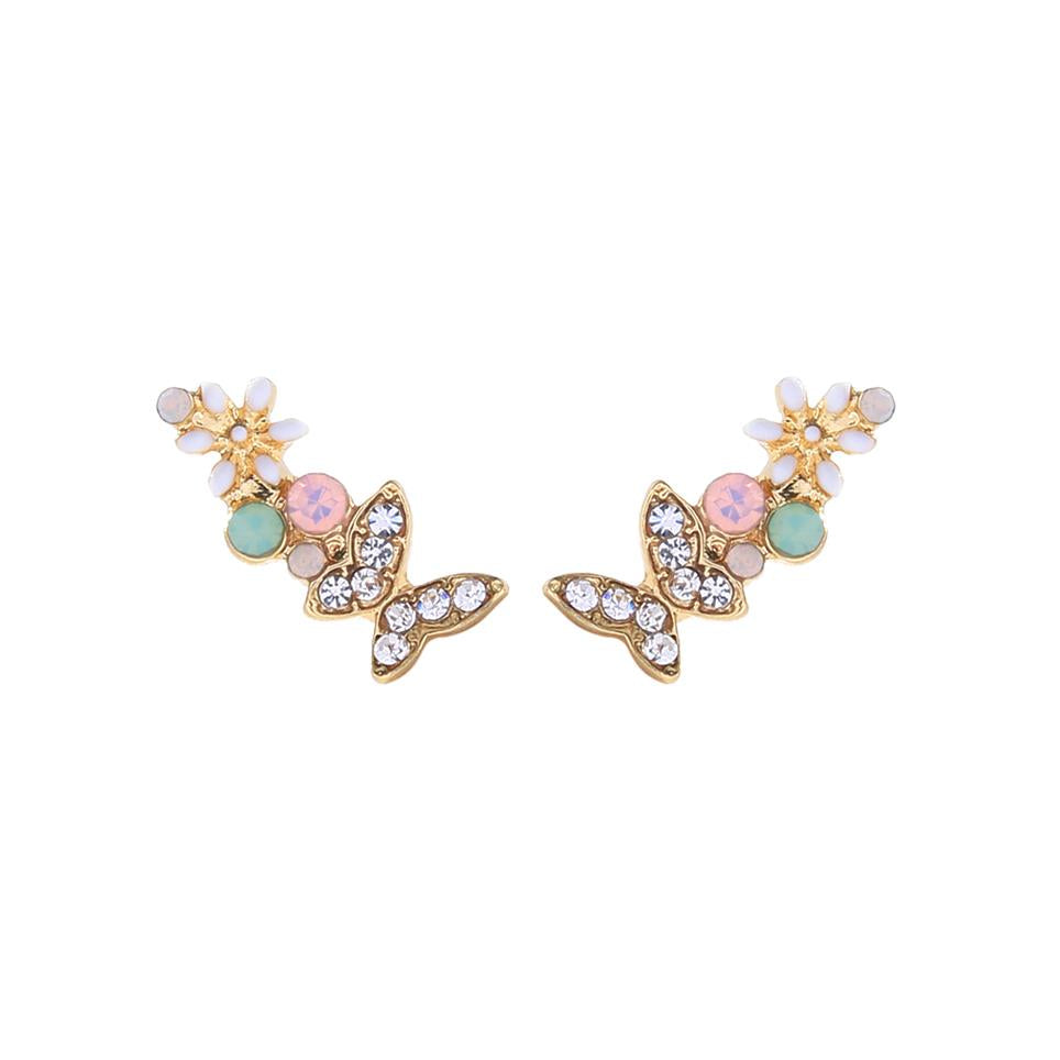 Fleur Butterfly and Flower Earring