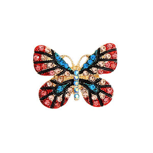 Dana Butterfly Brooch Pink and Turquoise