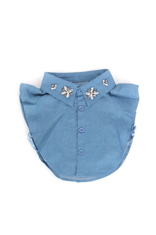 Blue Embellished Collar