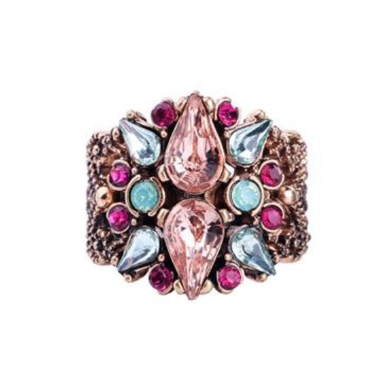 Yvette Crystal Gem Ring