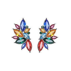 Caitlin Multi Colour Crystal Cluster Earring