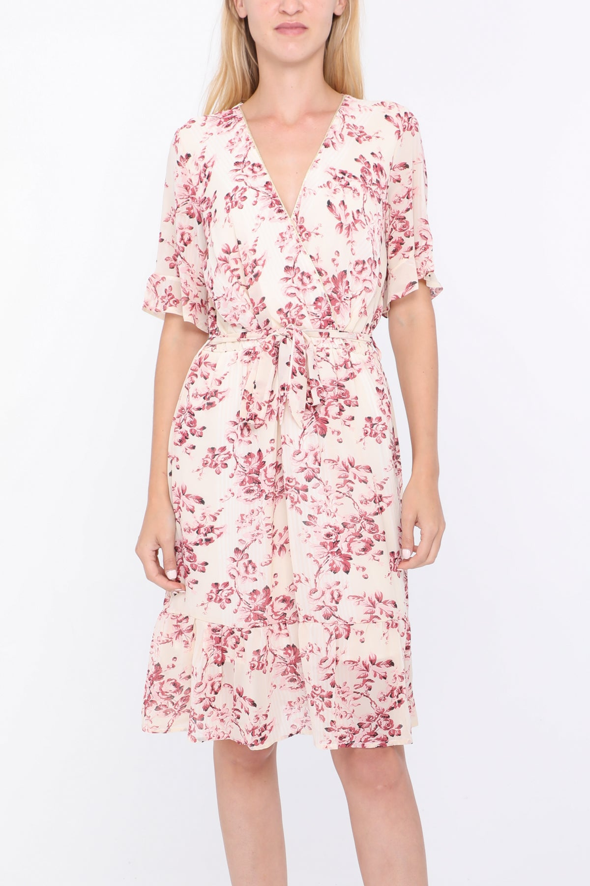 Carrie Vintage Rose Print Dress
