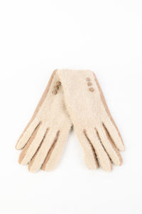 Charlotte Wool Mix Beige Gloves