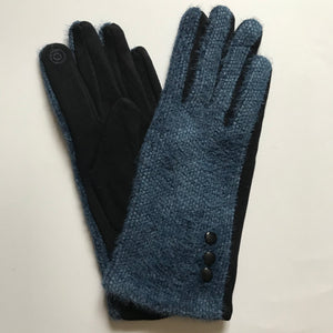 Charlotte Wool Mix Navy Gloves
