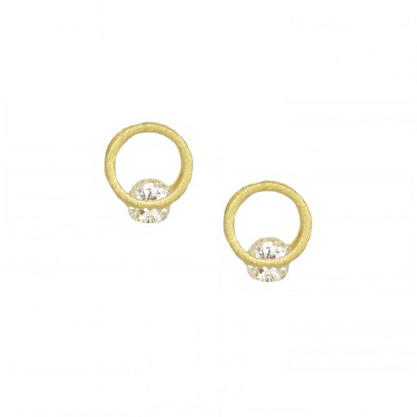 Alva Single Crystal Circle Earring