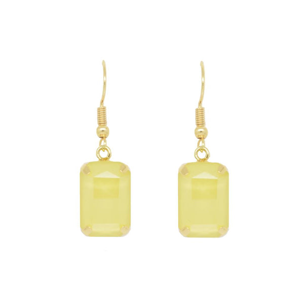 Clio Gold Claw Set Gem Earring Yellow