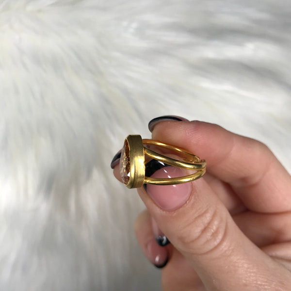 Courtney Tear Drop Ring
