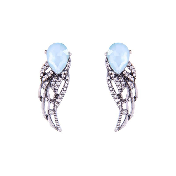 Crystal Angel Wings Earring