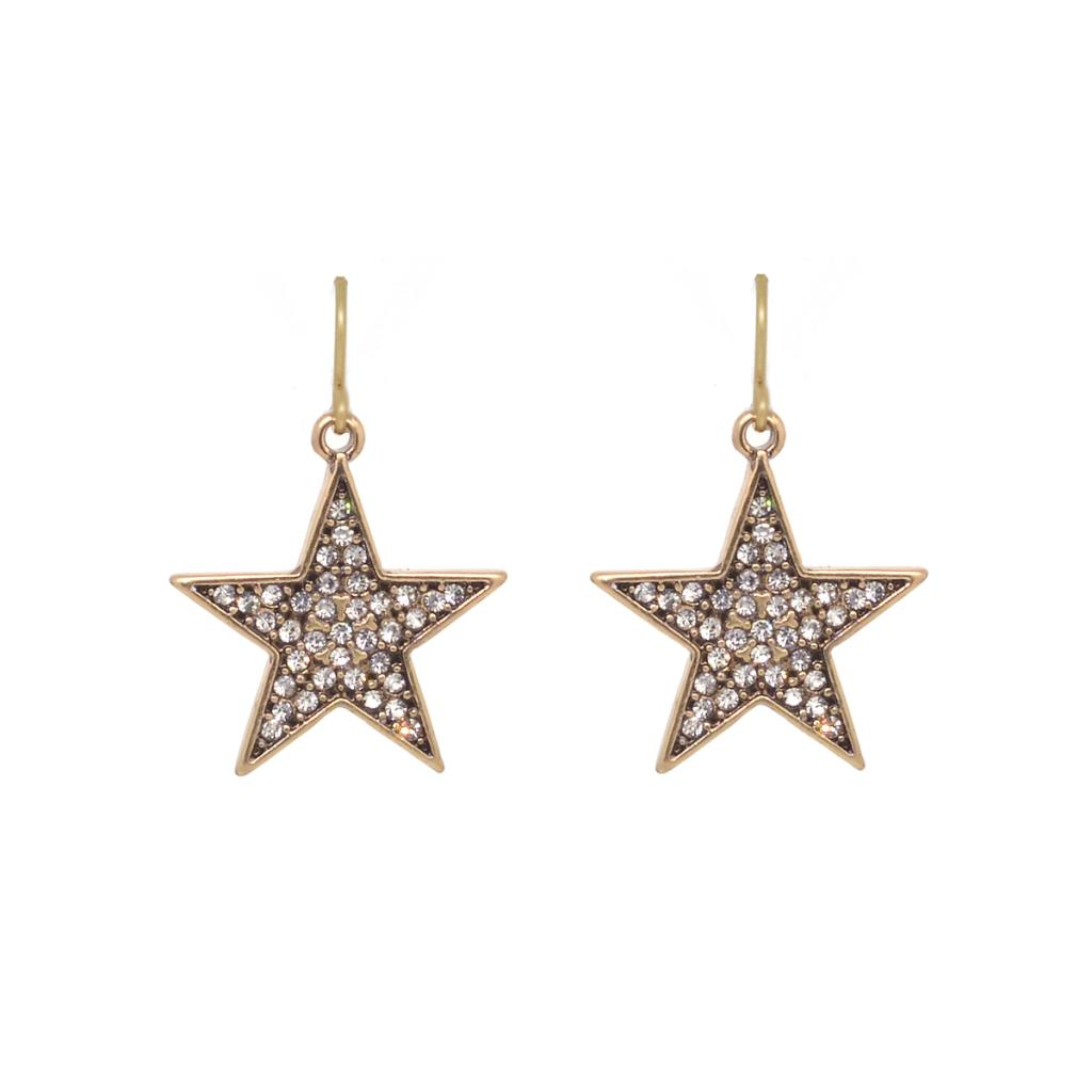 Ziggy Gold Crystal Star Earring