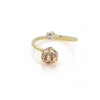 Mariah Crystal Cluster Ring Blush Pink