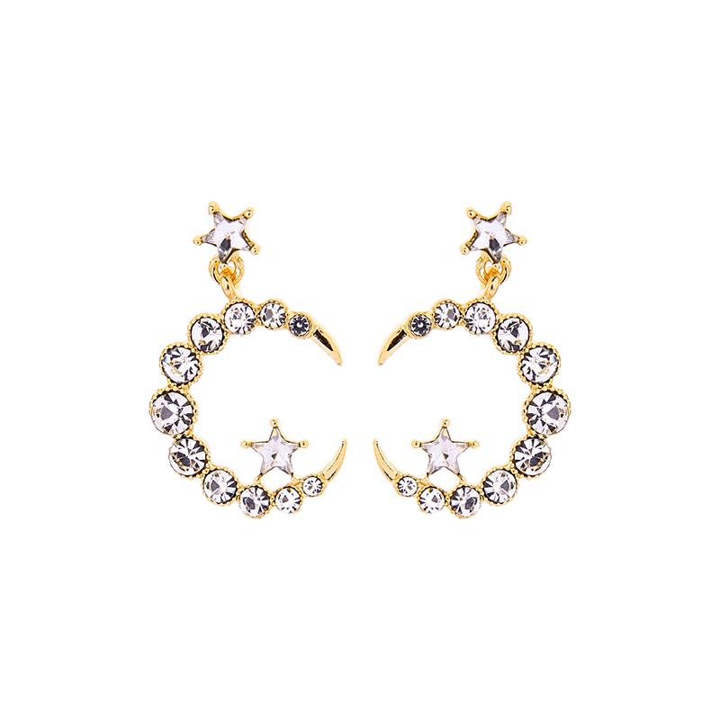 Athena Moon and Star Earring