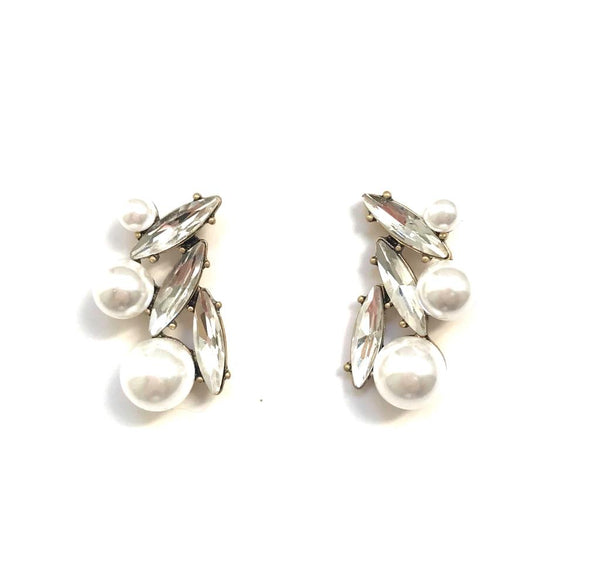 Pippa Pearl Cluster Earrings