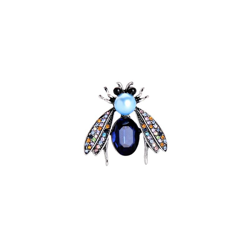 Cynthia Bee Brooch Blue and Turquoise