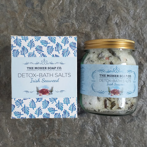 The Moher Soap Co. Bath Salts Jar DETOX - Irish Seaweed