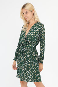 Danielle Green and Gold Print Dress