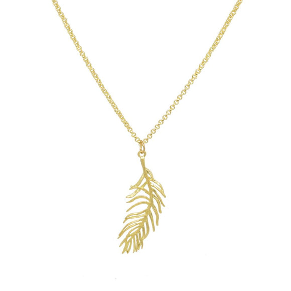 Eve Delicate Feather Necklace