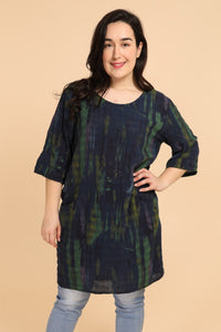 Dora 3/4 Sleeve Tunic Navy