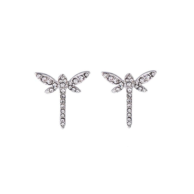 Crystal Dragonfly Earring