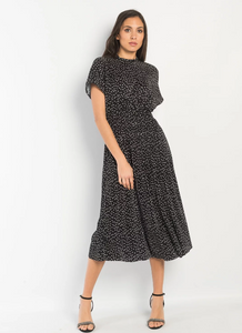 Eliana Polkadot Midi Dress
