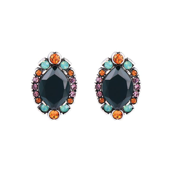 Maya Oval Emerald Earring