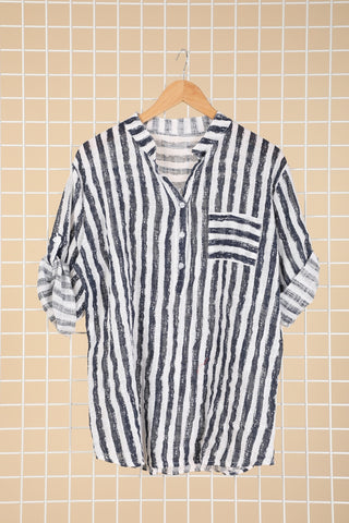 Emma Shirt Navy Stripe