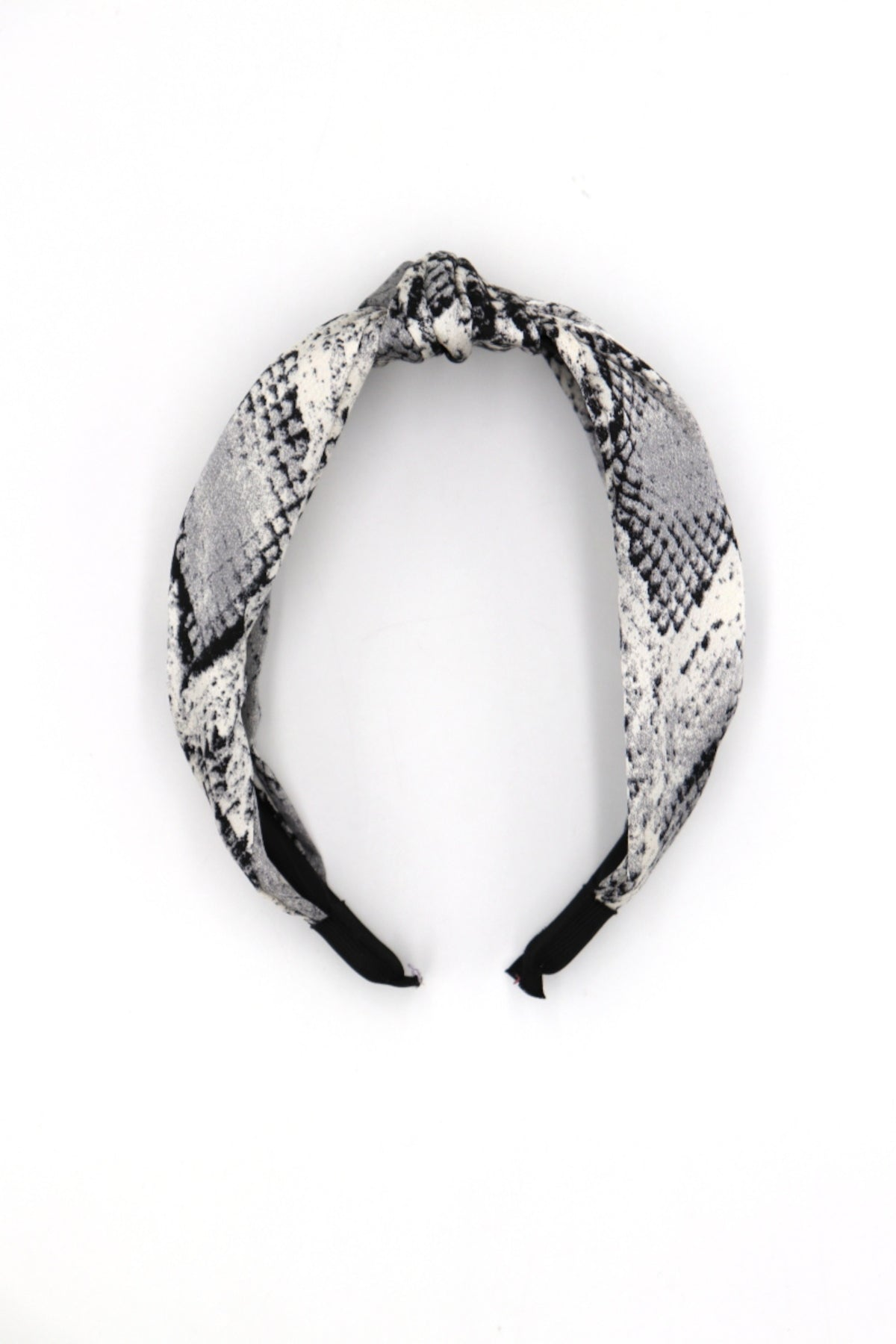 Emy Grey Snakeskin Head Band