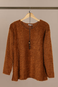 Fallon Knit Jumper Brown