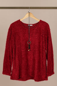Fallon Knit Jumper Burgundy