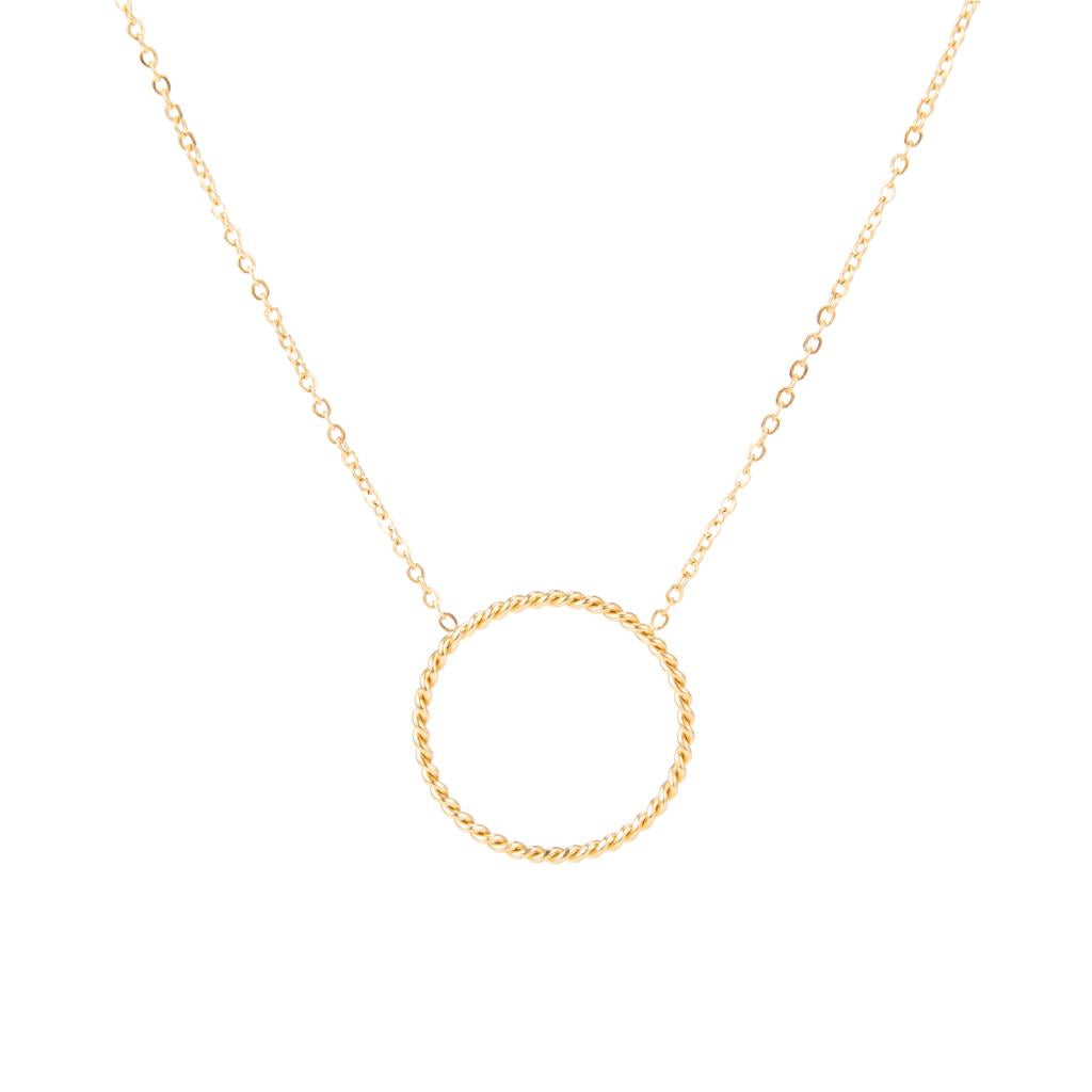 Fiona Single Hoop Gold Necklace