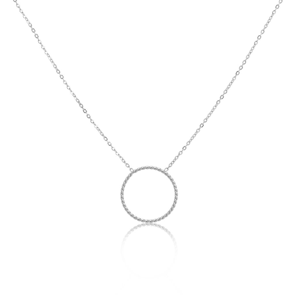 Fiona Single Hoop Steel Necklace