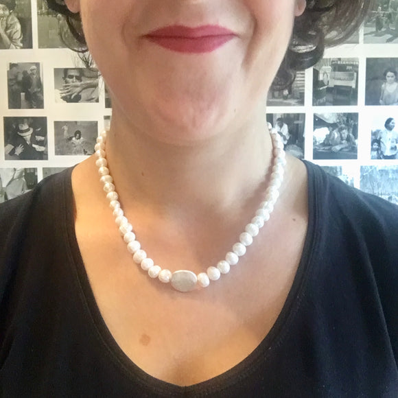 Cream Freshwater Pearl Necklace