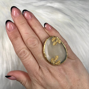 Gina Gold and Nude Ring