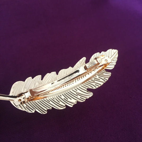 Gold Leaf Hair Clip