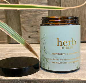 Herb Dublin Amber Jar Candle Peppermint and Eucalyptus