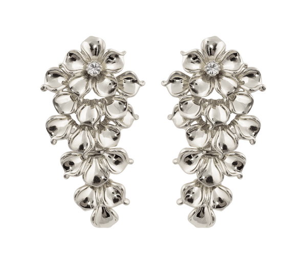 La Fleur Earrings Silver