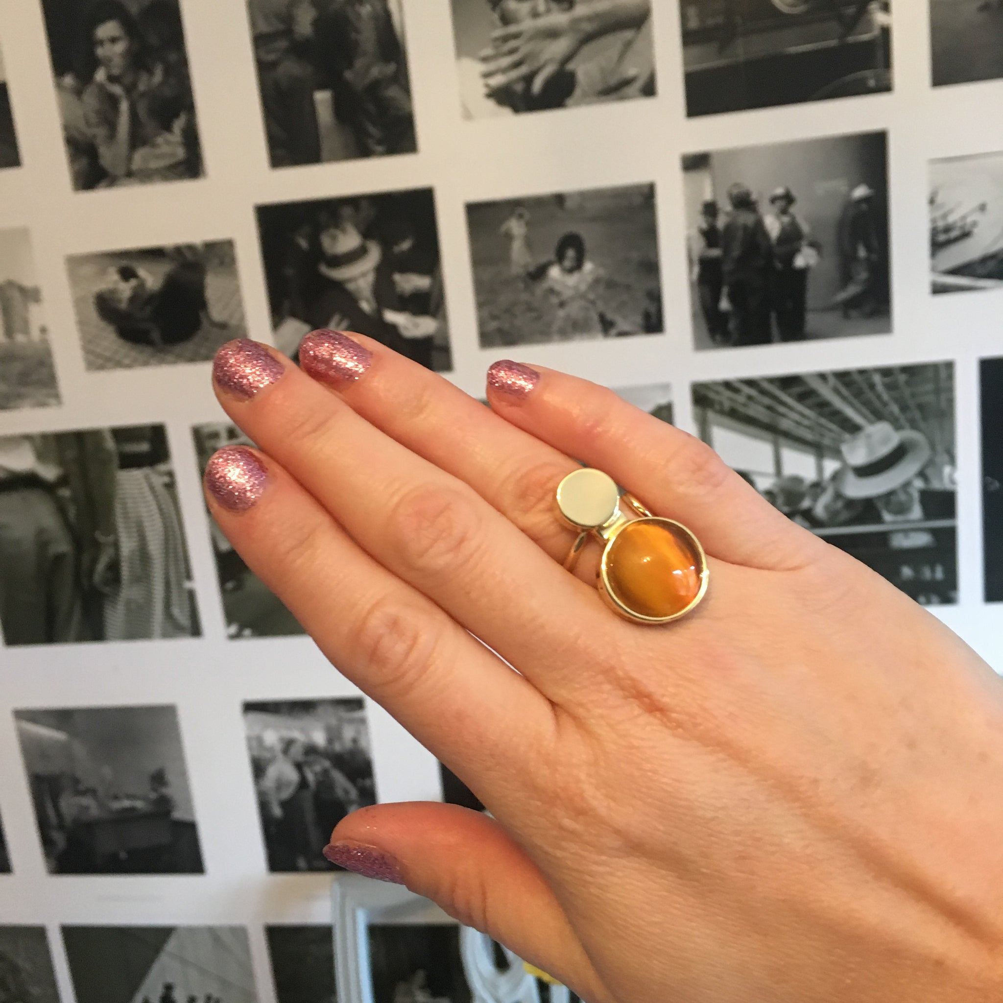 The Moon Ring Gold/Conjac