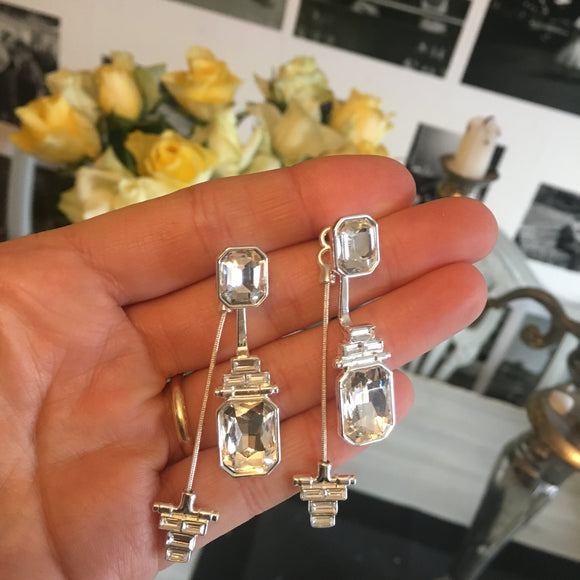 The Legacy Earrings Silver/White