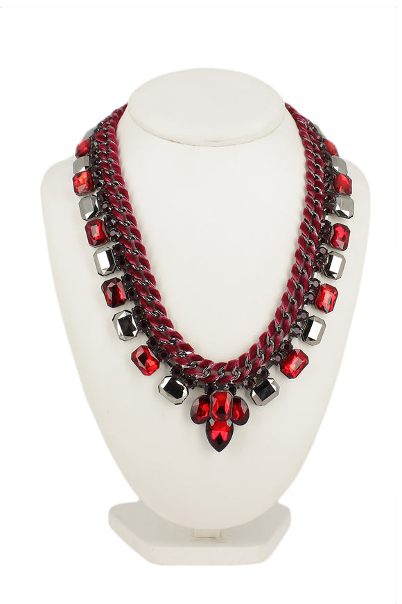 Jackie Red Statement Neckpiece