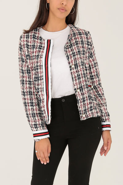 Jess Check Jacket