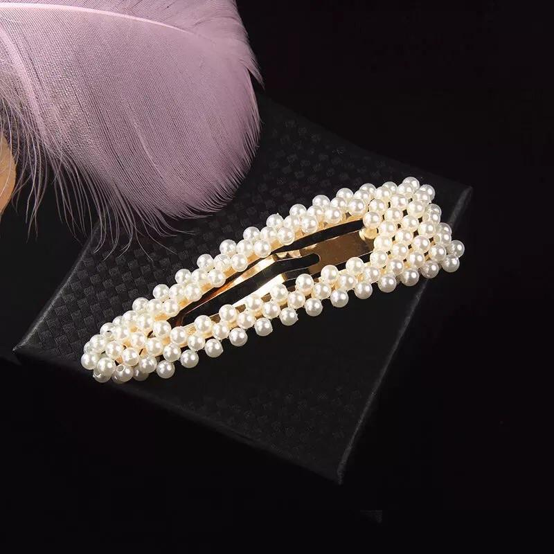 Open Large Pearl Hair Clip