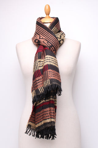 Karen Wool Mix Scarf