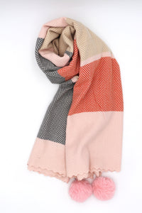 Kayden Pom Scarf Orange