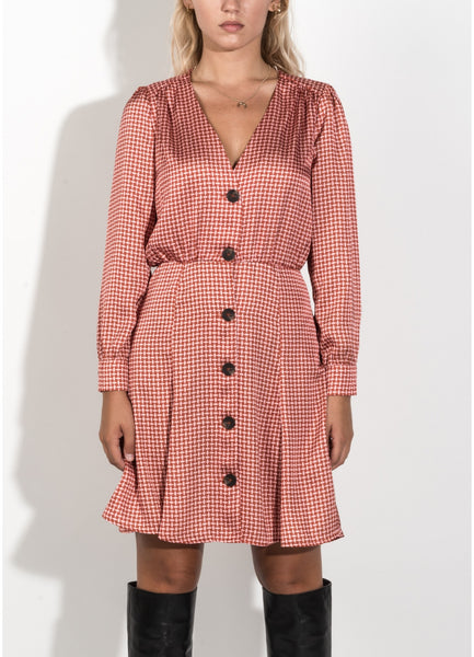 Keila Coral Button Dress