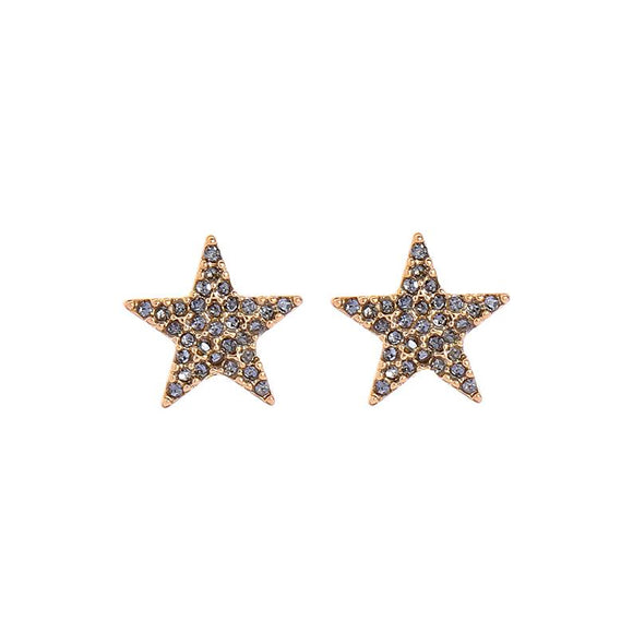 Erica Pewter Crystal Star Earrings