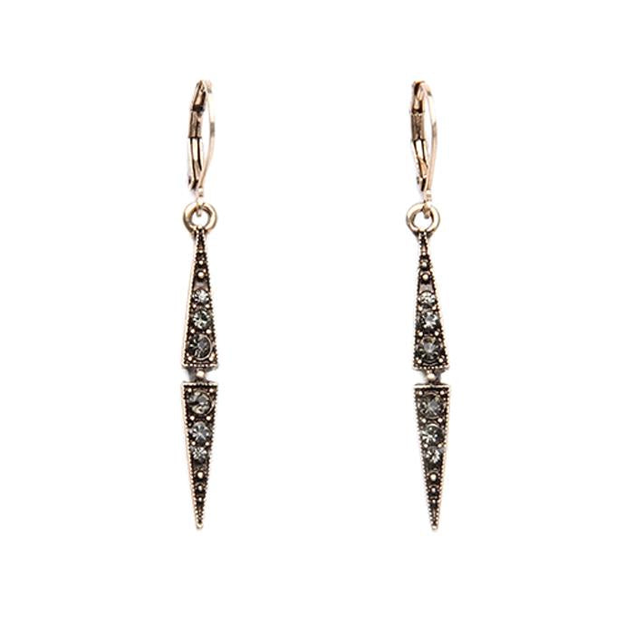 Eve Thin Gold Drop Crystal Earring